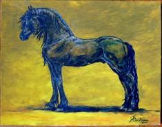 Picturi cu animale Studiu  friesian