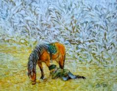 Picturi cu animale Mai stai ...  la inceput de iarna