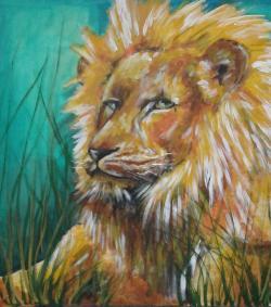 Picturi cu animale Leul