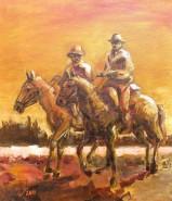 Picturi cu animale Doi calareti