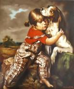 Picturi cu animale Jucaria ei preferata