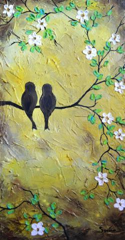 Picturi cu animale Swallos in Love