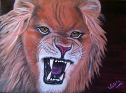 Picturi cu animale Angry Tau