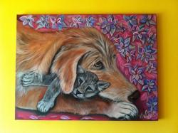 Picturi cu animale Best Friends