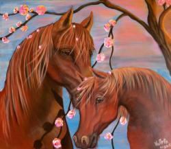 Picturi cu animale Love Horses