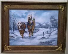 Picturi cu animale Dupa lemne