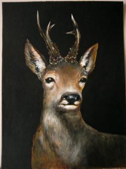Picturi cu animale caprior 22
