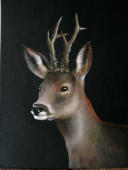Picturi cu animale Portret de caprior 1