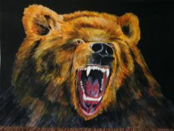 Picturi cu animale ursul brun