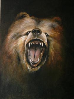Picturi cu animale Ursul carpatin