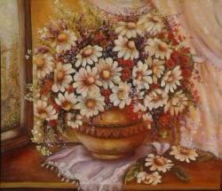 Picturi cu flori  Margareta te astept...
