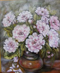 Picturi cu flori petale albe