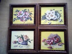 Picturi cu flori colaj floral