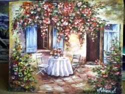 Picturi cu flori terasa cu flori