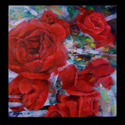Picturi cu flori panou decoratic cu trandafiri