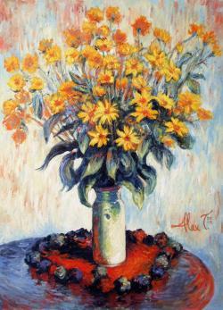 Picturi cu flori  f. galbene