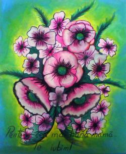 Picturi cu flori  Flori de maci.