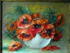 Picturi cu flori  rosu de camp