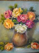 Picturi cu flori Buchet plin de culoare
