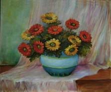 Picturi cu flori Jerbera