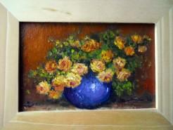 Picturi cu flori Roze galbene