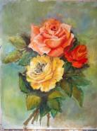 Picturi cu flori Suntem trei