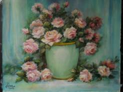 Picturi cu flori Trandafirii diminetii