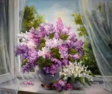 Picturi cu flori Adiere violet