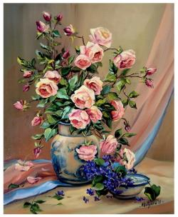 Picturi cu flori AMINTIRI DE PRIMAVARA