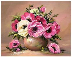 Picturi cu flori ANEMONE DIAFANE