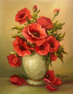 Picturi cu flori ANEMONE PURPURII