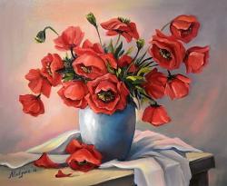 Picturi cu flori ANEMONELE PRIMAVERII