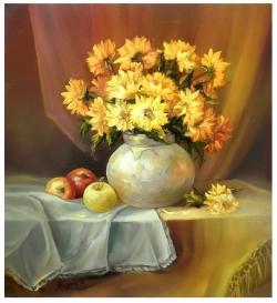 Picturi cu flori ARMONII AURII