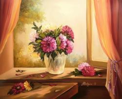Picturi cu flori ASFINTIT CU DALII