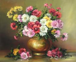 Picturi cu flori BUCHET CU DUMITRITE (2)