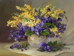 Picturi cu flori BUCHET CU TOPORASI