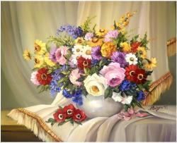 Picturi cu flori BUCHET PENTRU ALINA