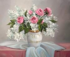 Picturi cu flori BUCHET SUAV DE PRIMAVARA 1