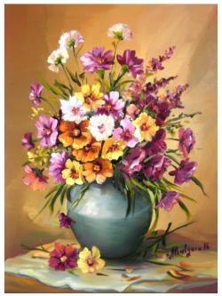 Picturi cu flori BUCHET  VESEL (2)