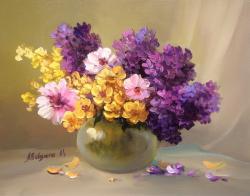 Picturi cu flori BUCHETEL  VIOLET