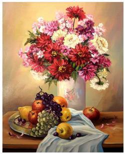 Picturi cu flori BUCURIILE TOAMNEI