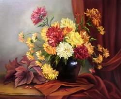 Picturi cu flori DARUL DOAMNEI TOAMNA