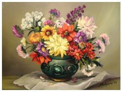 Picturi cu flori DIN GRADINA CU TOAMNA