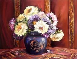 Picturi cu flori DIN GRADINA LUI OCTOMBRIE