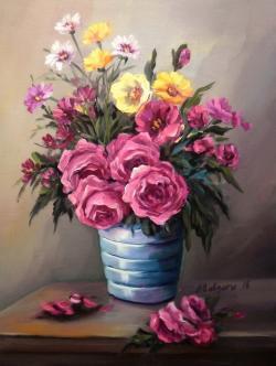 Picturi cu flori DIN PALETA PRIMAVERII