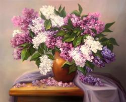Picturi cu flori DOAR FLORI DE LILIAC 2