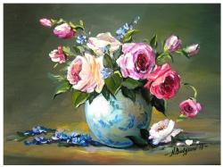 Picturi cu flori DOAR ROZE