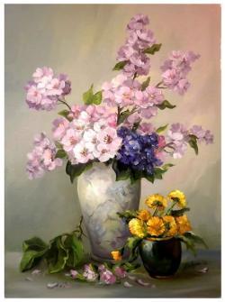 Picturi cu flori DOR DE RAMURI INFLORITE