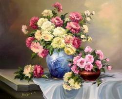 Picturi cu flori DUET ANIVERSAR