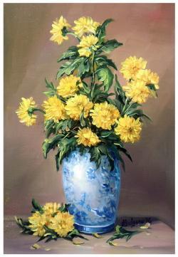 Picturi cu flori DUMITRITE IN AURIU